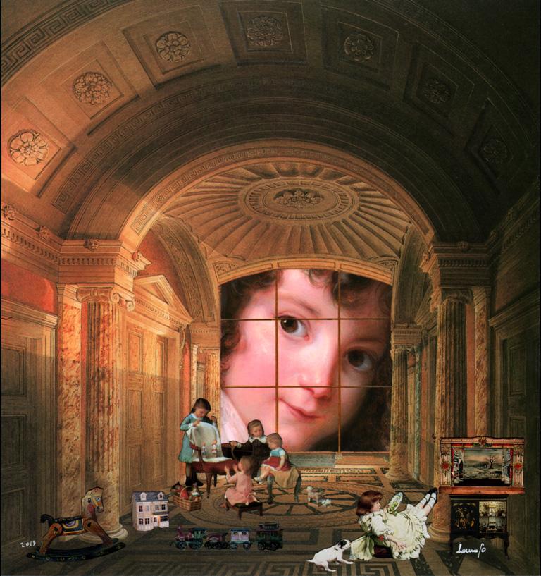 la stanza del sogno 2 - tecnica mista, 29,06 x 30