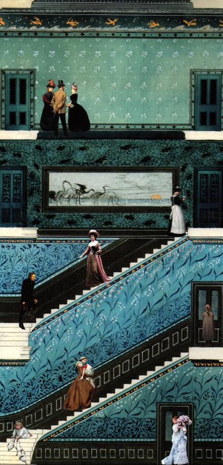 Per le scale- collage su stampa Fine-Art, tecnica mista 29 x 41