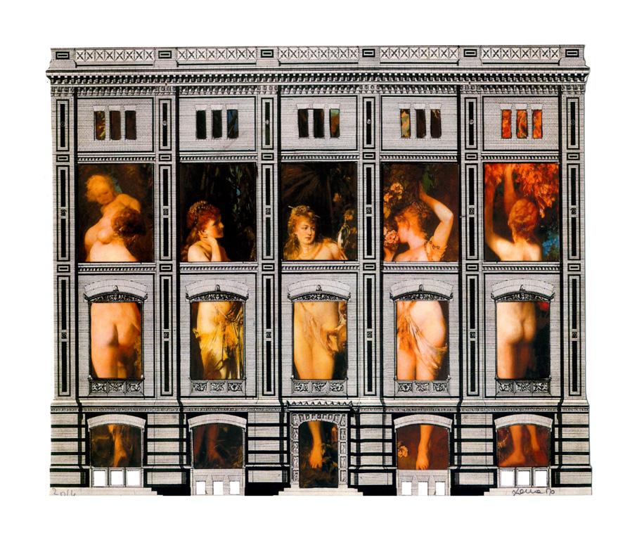 I cinque sensi - collage 33 x 28
