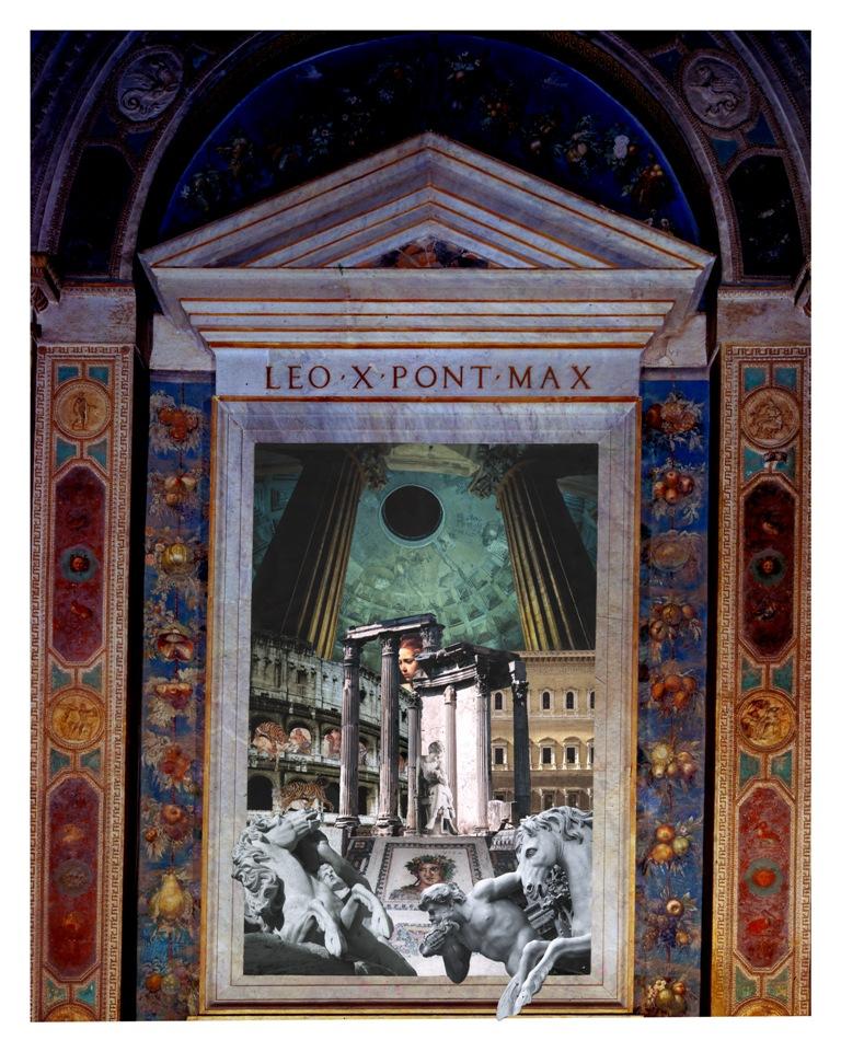 Roma – collage su stampa Fine - Art, tecnica mista, 75 x 100