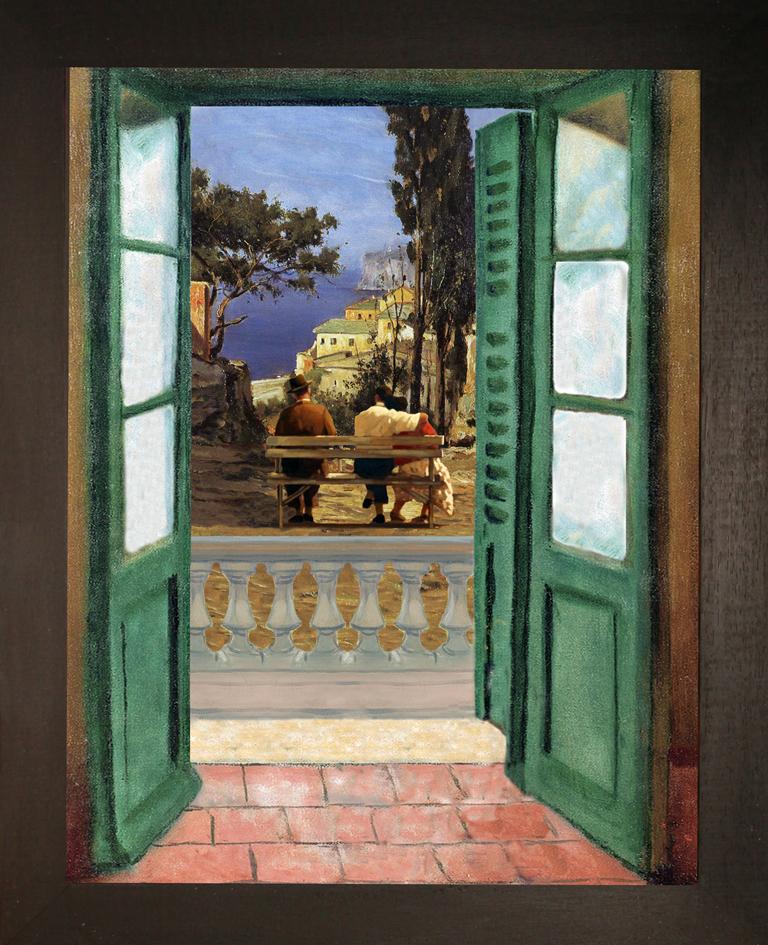 Liguria,-l'-immagine-di-te-sempre-nel-cuore-Camillo-Sbarbaro-Teatrino-3D.-Collage-in-scatola-di-ayous,-tecnica- mista, 29,5-x-36-x-8 jpg
